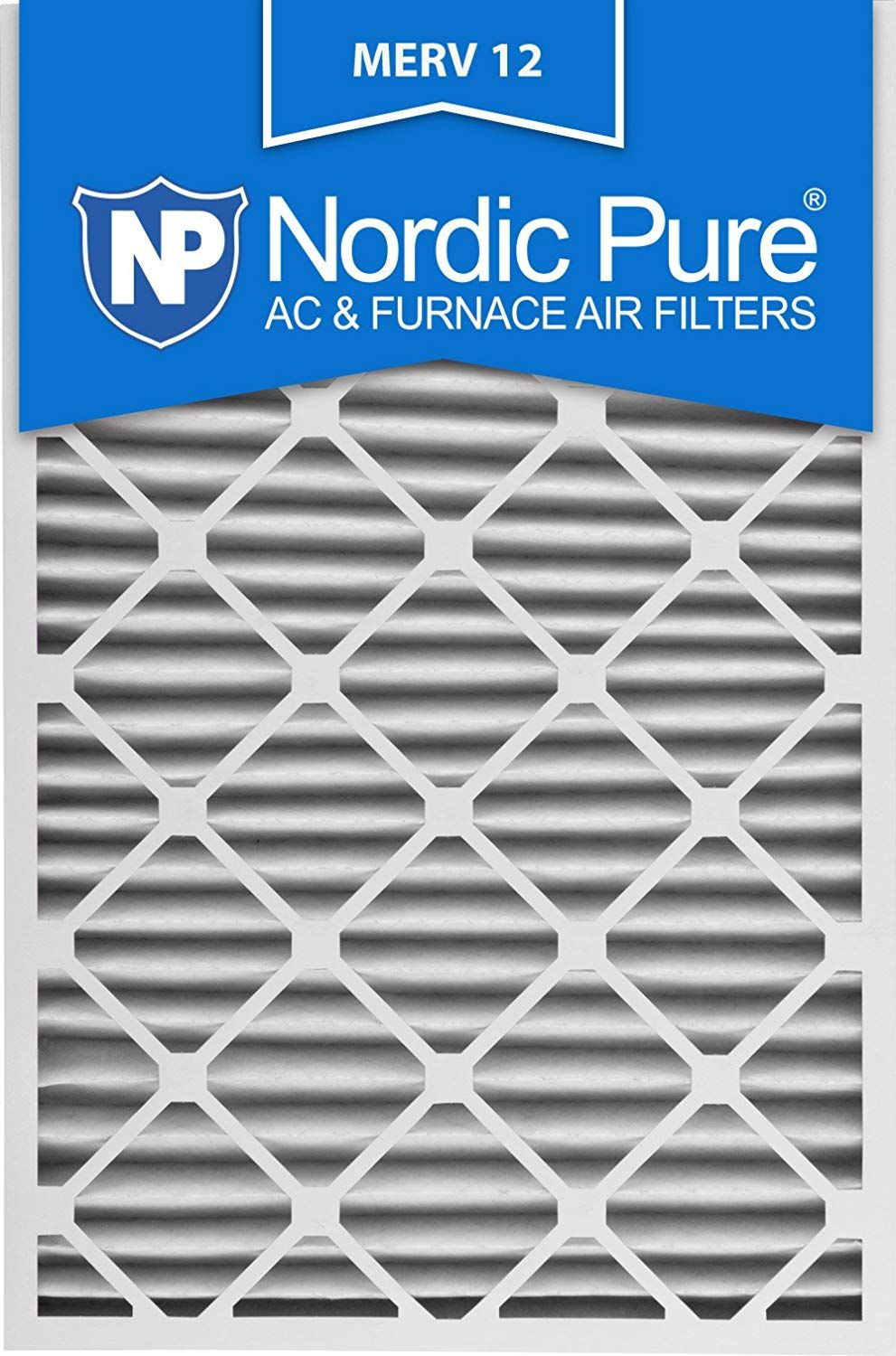 Nordic Pure 20x30x2 MERV 12 Pleated AC Furnace Air Filters