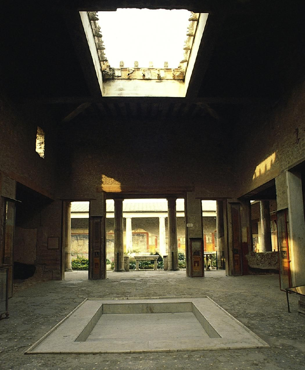 Atrium Of The House Of The Vettii Pompeii Italy The