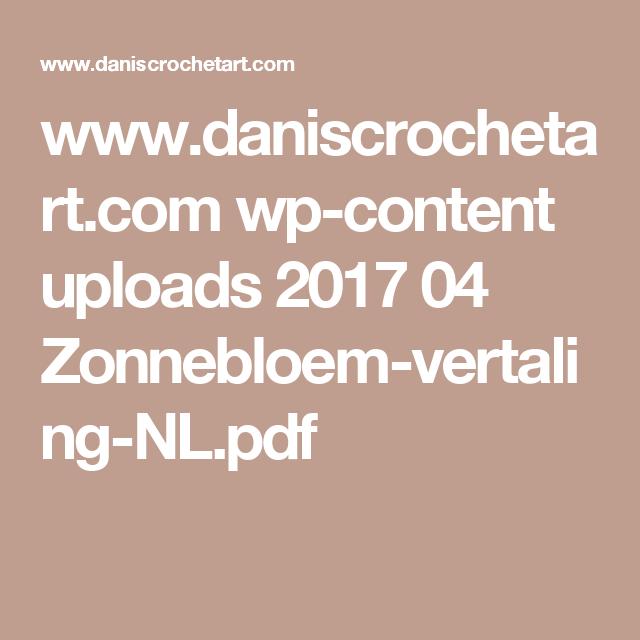 Wwwdaniscrochetartcom Wp Content Uploads 2017 04 Zonnebloem