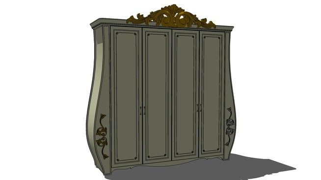 Large preview of 3D Model of wardrobe