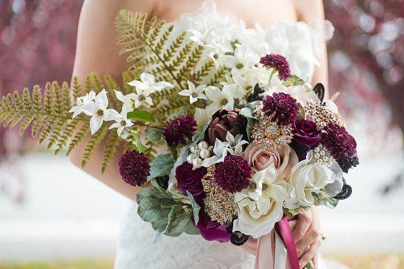 Custom loose silk flower bouquet boho bouquet bohemian wedding flower custom loose silk mightylinksfo