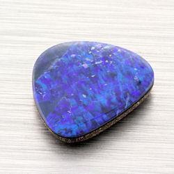 Australian Opal Doublet 4.05ct Purple Blue Green Colors p916 - Jamming Gems