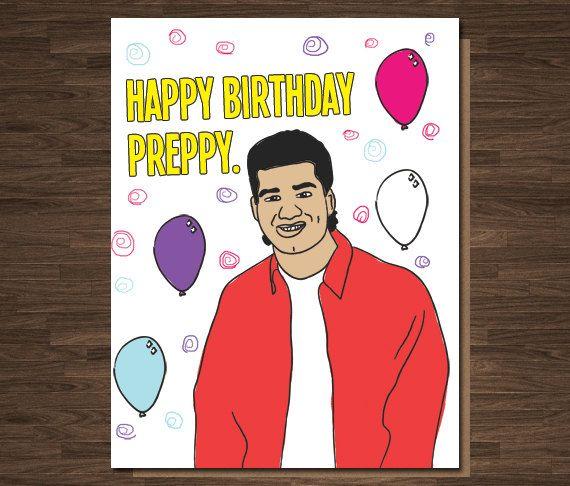 Funny Birthday Card Happy Birthday Preppy Saved By The Bell Slater Pop Culture Birthday Car Funny Birthday Cards Birthday Cards For Him Birthday Greetings