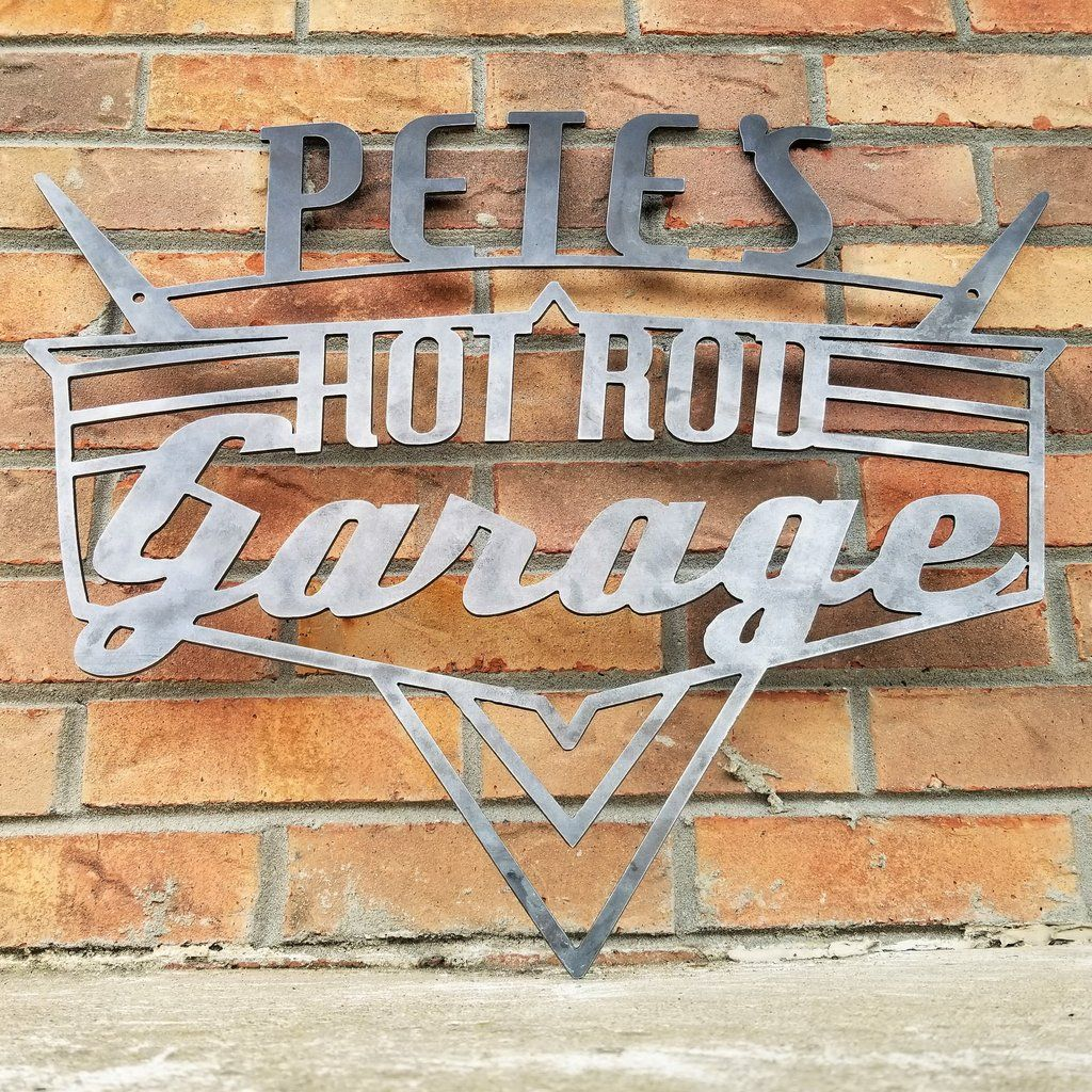 Personalized Hot Rod Garage Sign
