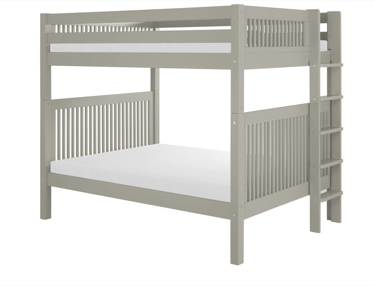 Camaflexi full over full bunk bed mission headboard bed end