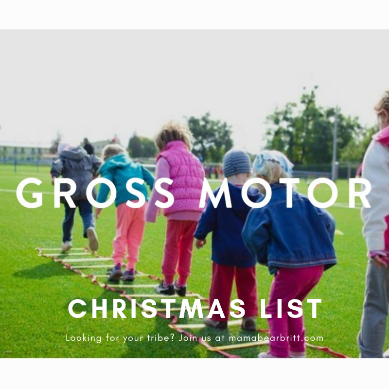 Christmas Toy List. Holiday Toy List. Gross Motor Toys
