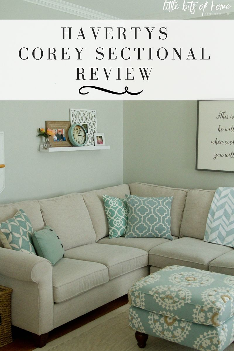 Honest Review Of Havertys Corey Sectional 1.5 Years Later Via Little Bits  Of Home