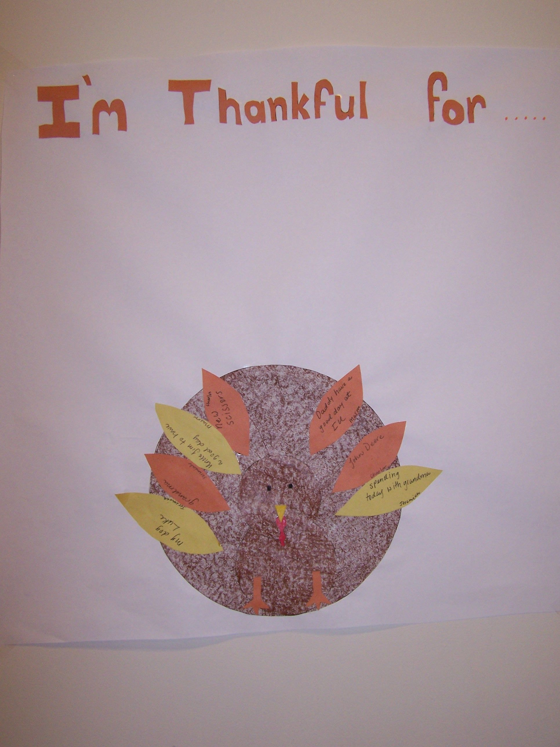My Boys Thanksgiving Project Each Day Add A Feather For