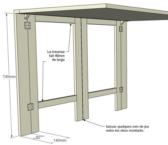 confection d 39 un bureau mural forum bois bureau chambre. Black Bedroom Furniture Sets. Home Design Ideas