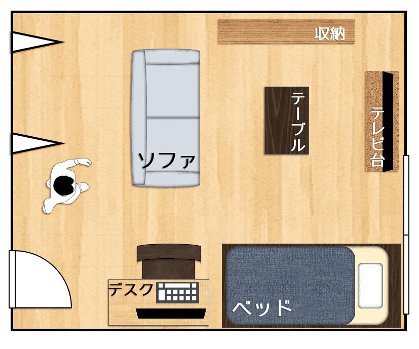 10畳の広さはどれくらい レイアウト例も合わせて紹介 一人暮らし 2021 10畳 レイアウト 8畳 レイアウト