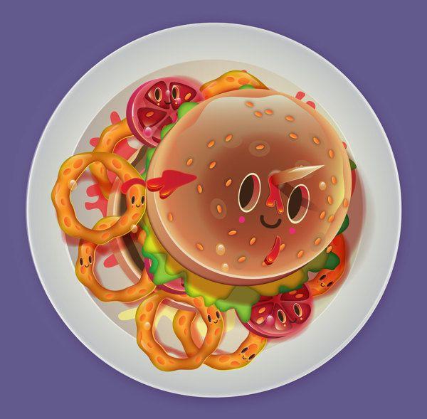 I love food! by jonathan ball / pokedstudio
