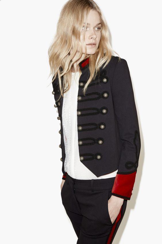 giacca donna modello militare