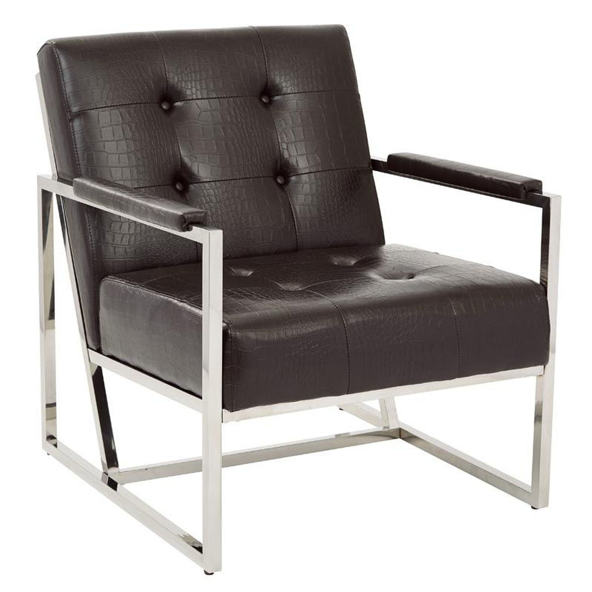 biz chair com outdoor chairs for sporting events ave six nathan modern tufted faux leather espresso croc office star products nat51 c43 os at bizchair