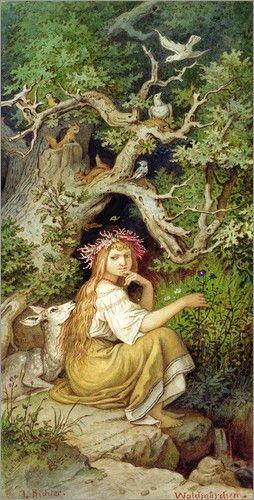Nymphen Poster Online Bestellen Posterlounge Fantasy Poster Marchen Grimms Marchen