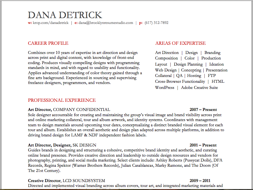 artcreative director resume brooklyn resume studio resumes career