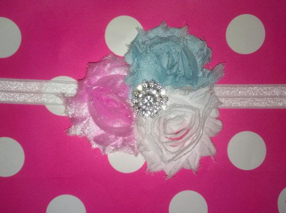 Light pink Light blue & white shabby chic by IsabellitasBoutique, $6.50