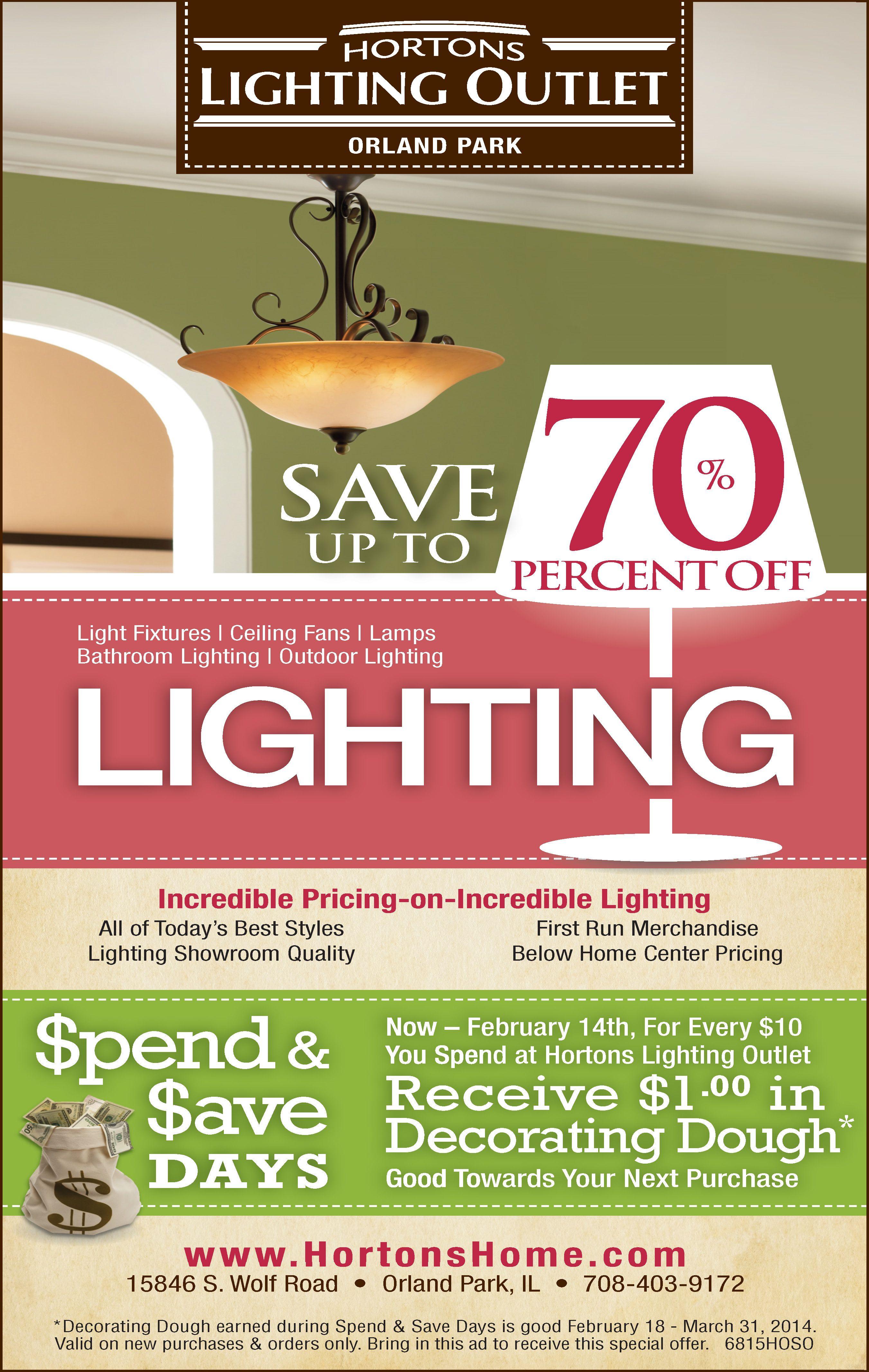 Lighting Event For Hortons Home Designed By Jet Advertising February 2017