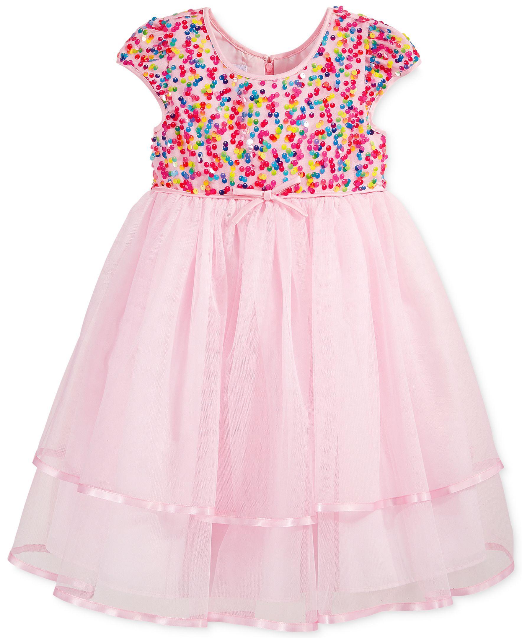 Bella by Marmellata Girls Sequin Bodice Dress