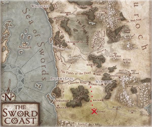 Sword Coast Map Greenest Elturel Dnd Pinterest Rpg