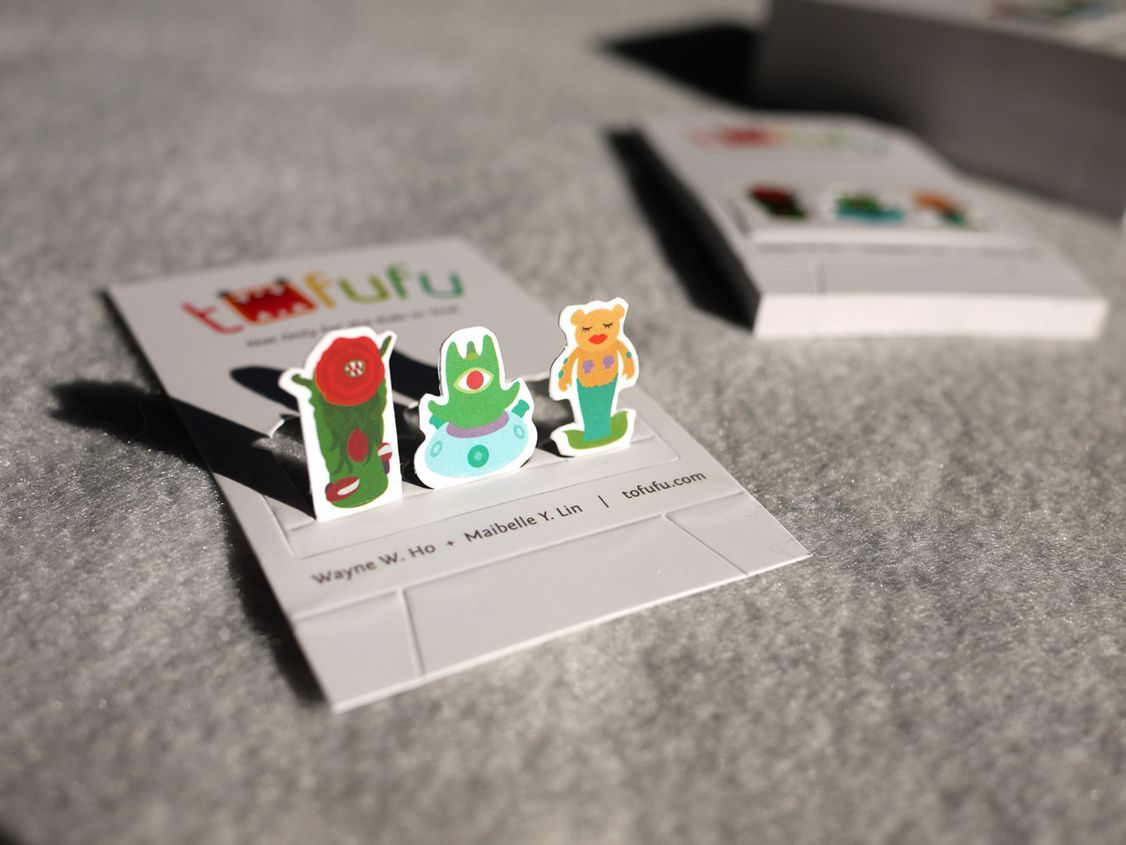 We designed a playful pop-up business card that can be folded and ...
