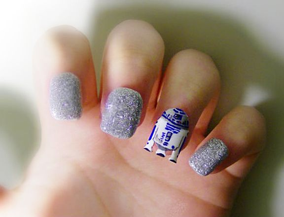 Whip That Nail Art Into Shape! R2 D2Star Wars ... - Whip That Nail Art Into Shape! R2 D2, Star Wars Nails And Nice