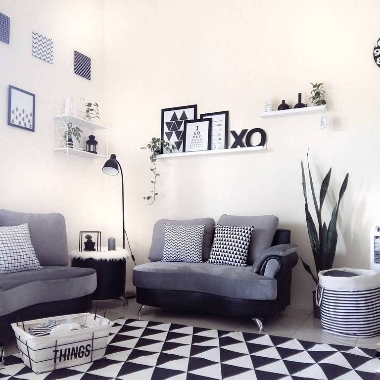 Desain Ruang Tamu Kecil Dengan Sofa Minimalis Bergaya