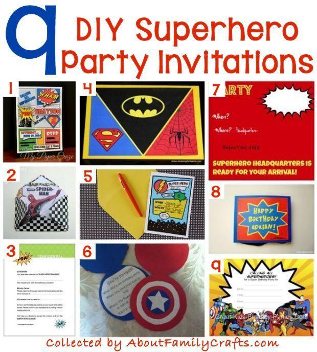 70 Diy Superhero Party Ideas Superhero Birthday Party Invitations Superhero Party Invitations Superhero Invitations
