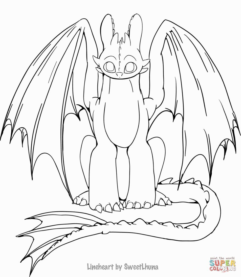 Toothless Coloring Pages Dragon Coloring Page How Train Your Dragon Coloring Pages For Kids