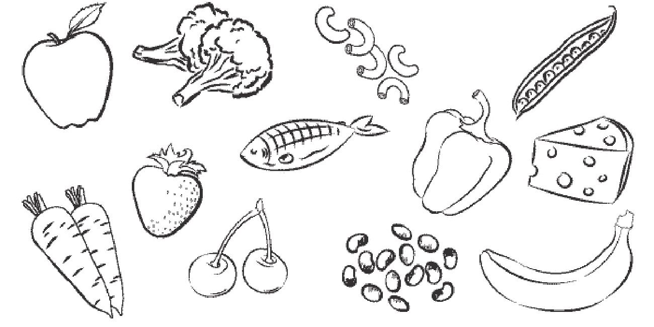 Healthy Food Pictures To Print Food Coloring Pages Healthy Food