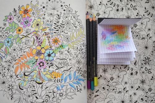 My Two Hours Worth Of Colouring In Progress Johanna Basfords Secret Garden
