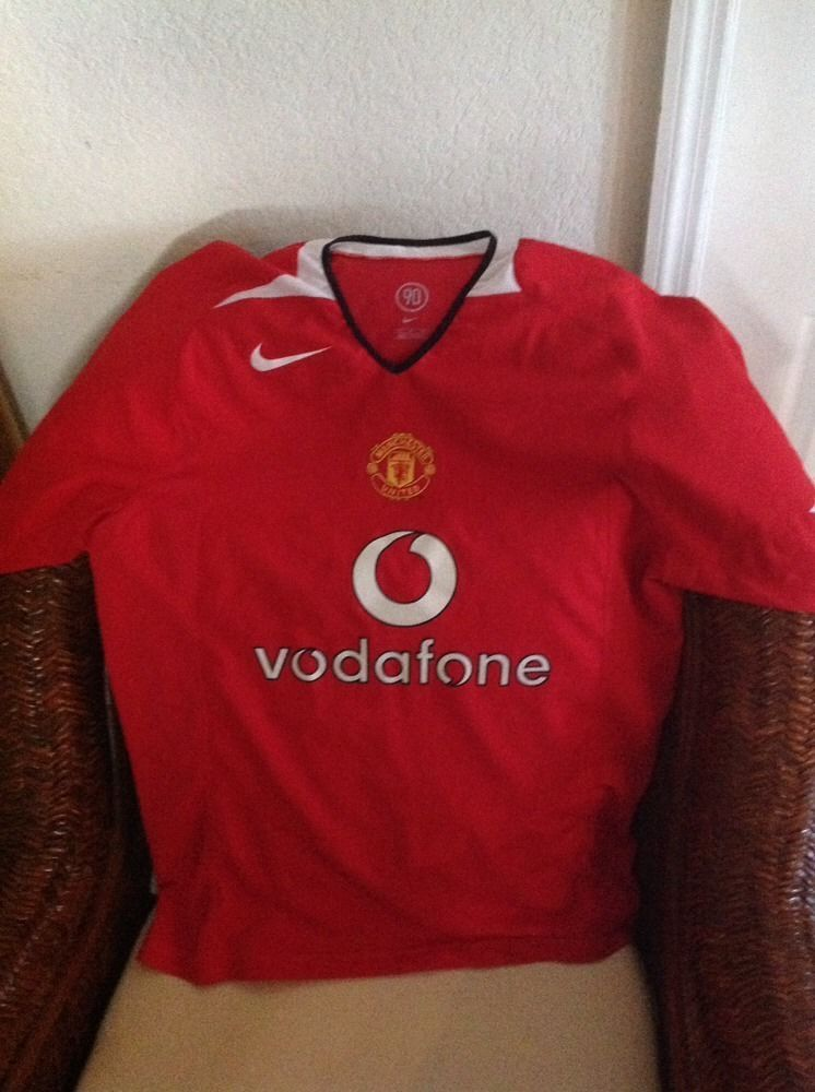 db5f6cebd NIKE 90 MANCHESTER UNITED FOOTBALL CLUB SHORT SLEEVE SOCCER JERSEY SIZE M  MENS in Sports Mem