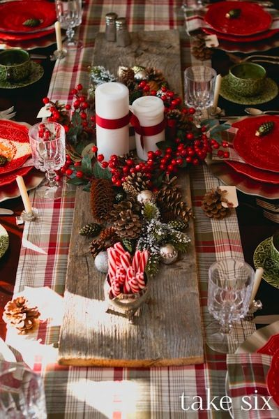 Vintage Christmas Table Decorations