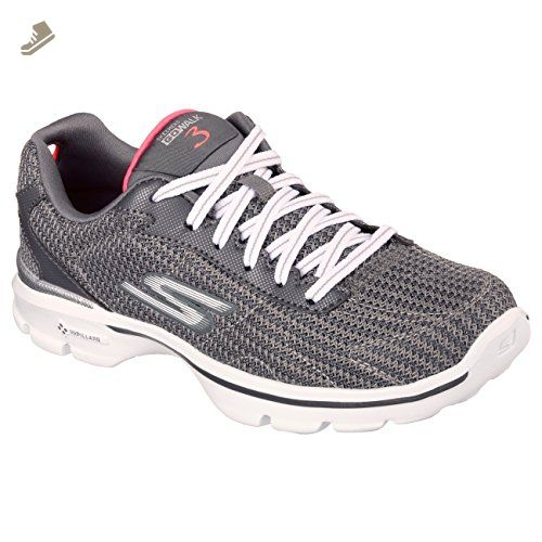 f408dda500c7 Skechers Womens Ladies Go Walk 3 Fitknit Lace Up Trainers Sneakers (7 US) ( Charcoal) - Skechers sneakers for women ( Amazon Partner-Link)