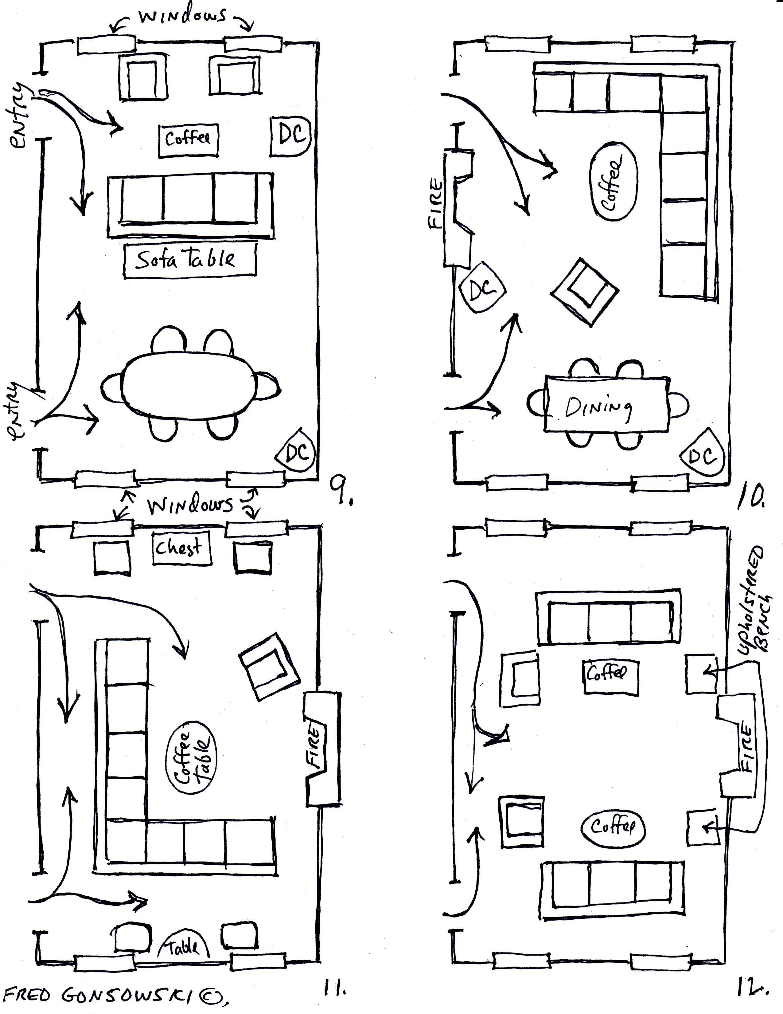 small resolution of furniture setup for rectangular living room bottom left