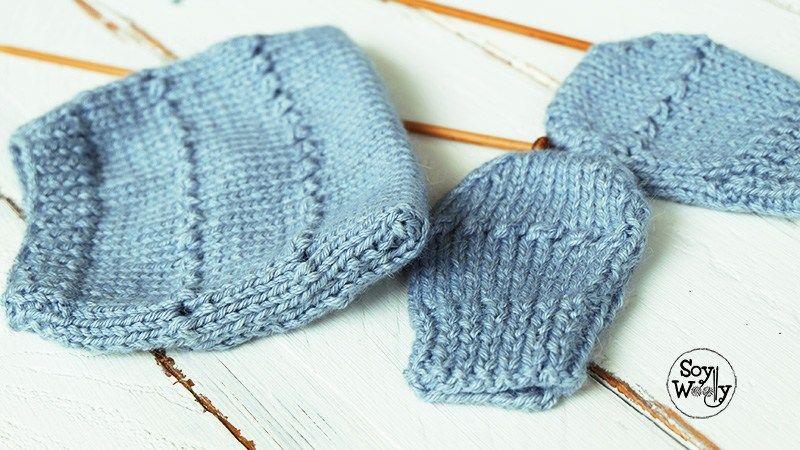 Tejer conjunto para regalo baby shower facil dos agujas-Soy Woolly ...