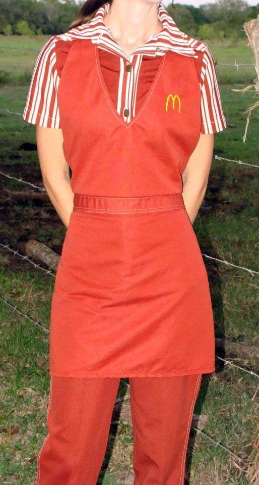 mcdonald s uniform of the past 70s fast food paraphernalia