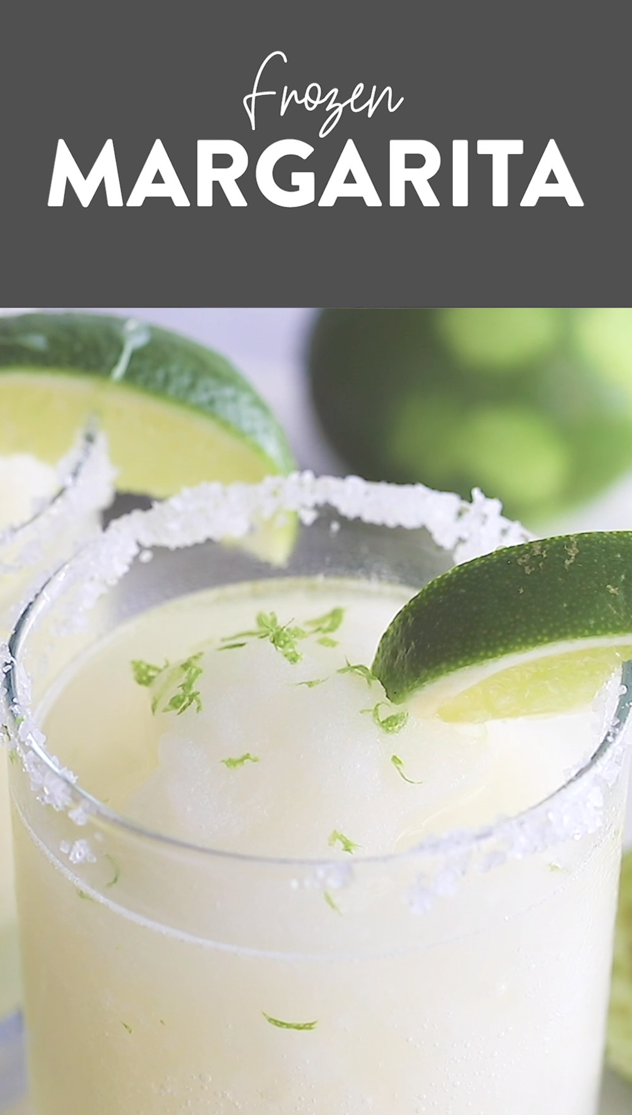 With just 5 basic ingredients you can whip up the best frozen margarita recipe in under 10 minutes! Make these frozen margaritas all summer long! #frozenmargaritarecipes With just 5 basic ingredients you can whip up the best frozen margarita recipe in under 10 minutes! Make these frozen margaritas all summer long! #frozenmargaritarecipes