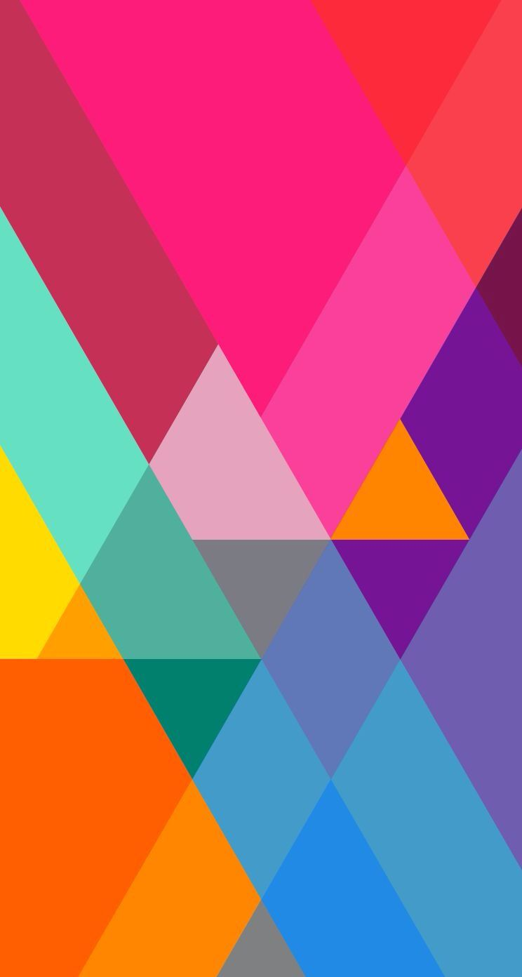 Abstract colorful triangles wallpaper abstract and - Geometric wallpaper colorful ...