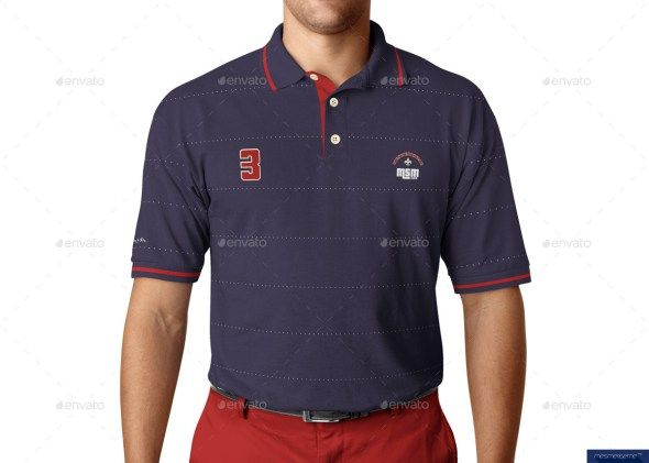Download Polo Shirt On Model Mockup