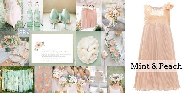 Peach Wedding Dress for Girls