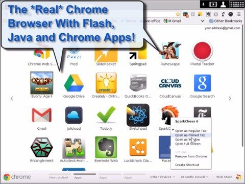 Download Virtualchrome App With Support For Flash Java And Extensions On Ipad Chrome Apps Chrome Web App