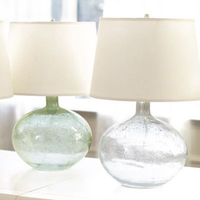 Malia seeded glass lamp lighting ballard designs