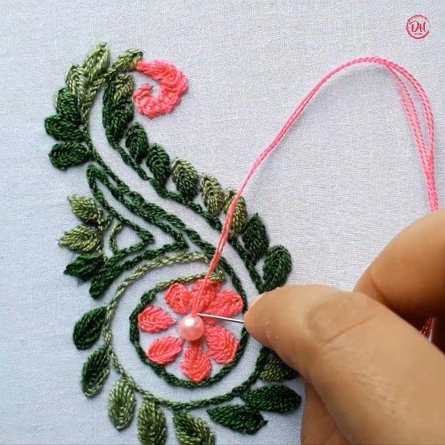 Hand Embroidery Flower Design Video Flower Embroidery Designs Hand Embroidery Flowers Sewing Embroidery Designs