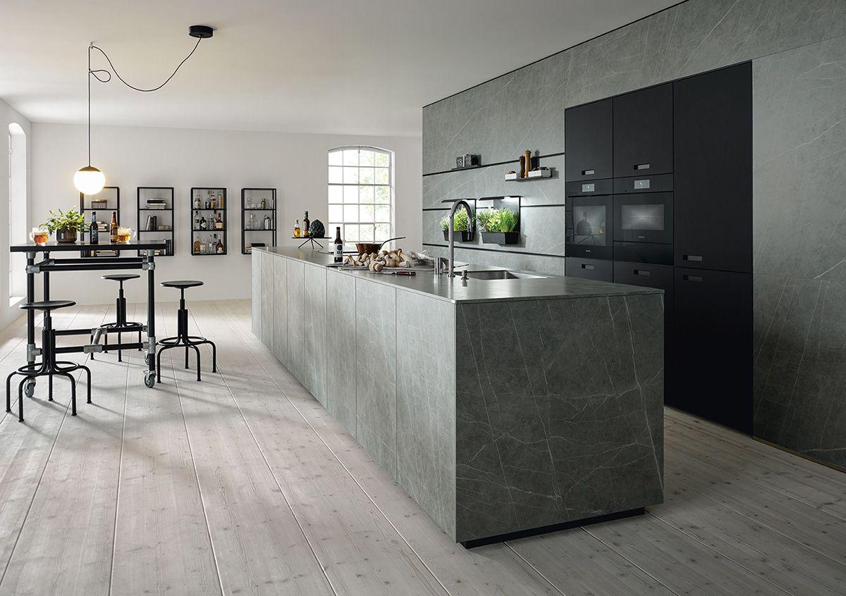 Nx 950 ceramic marmor grigio und nx 912 in glas matt onyxschwarz
