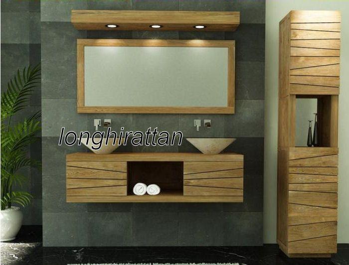 Mobili bagno stile etnico in legno massello g vf