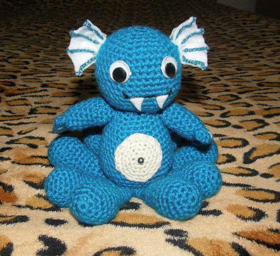 Amigurumi baby sea monster on Etsy, $22.55