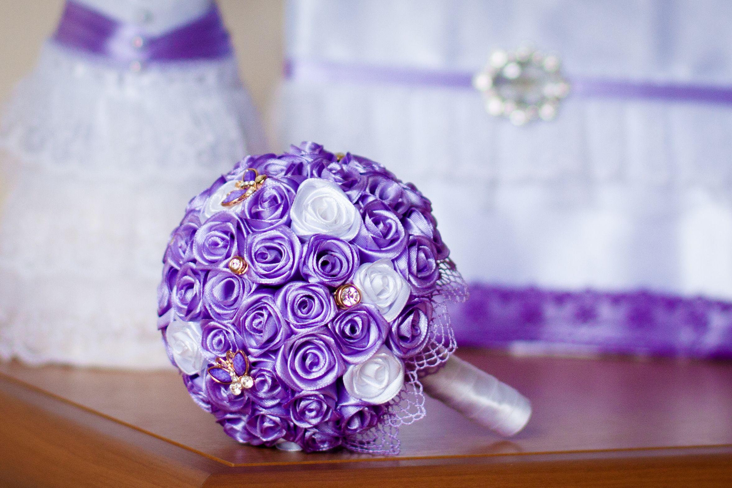 Букет для невест из лент
