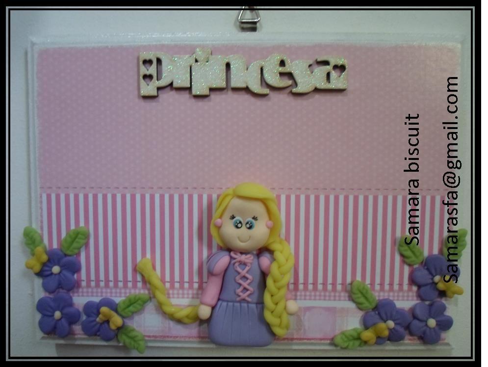 Quadro princesas biscuit