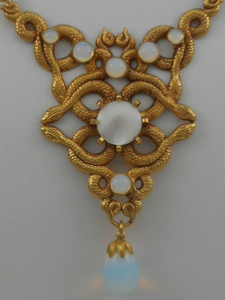 Askew london jewelry costume art nouveau set necklace bracelet