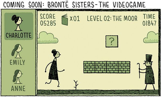 Ha!  Nothing like Gothic British literature cartoons on a Friday afternoon..